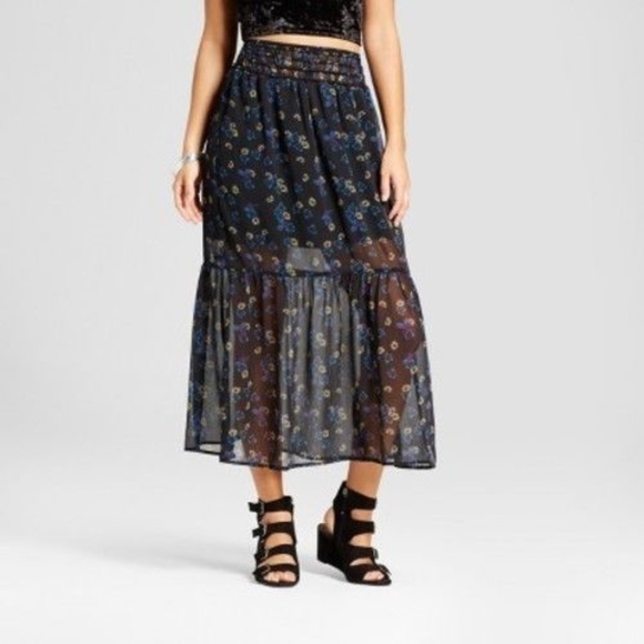 e6d916ae60 Xhilaration Skirts | Floral Maxi Skirt | Poshmark